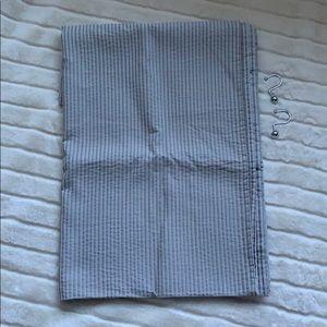 Fieldcrest Shower Curtain Blue/Gray